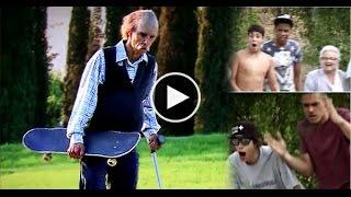 Download 80 Year Old Skateboarder Shows Up Kids At Skatepark Video