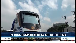 Download PT INKA Ekspor Kereta Api ke Filipina Senilai Rp 134 Miliar Video