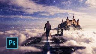 Download How to Make a Fantasy Photo Manipulation - Walking in the Clouds - Photoshop manipulation tutorials Video
