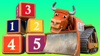 Download Learn numbers with Bulldozer - Learning for kids with Vehicles & Animals - AnimaCars Video