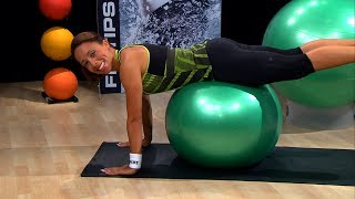 Download Stability ball workout for the lower back | Herbalife Workout Video