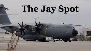 Download Cloud News Bulletin: Rare R.A.F. Airbus A400M Visits Toronto YYZ Video