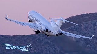 Download Awesome & Close-Up Evening VIP Boeing 727 Takeoff Video