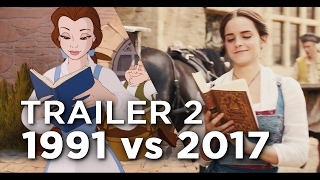 Download Beauty and the Beast Trailer 2 - 1991 vs 2017 Comparison/Side by Side Video