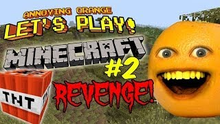 Download Annoying Orange Let's Play Minecraft #2: TNT Revenge!!! Video
