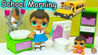 Download LOL Surprise Big & Lil Sisters School Day Morning Time Routine - Eat Breakfast, Brush Teeth Video