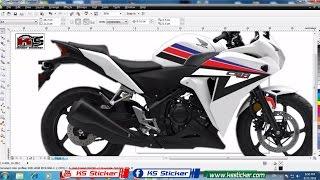 Download Corel Draw X5 design Step by Step - Honda CBR150R Stamp Video