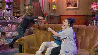 Download Jennifer Aniston Scares Fans at Central Perk Video