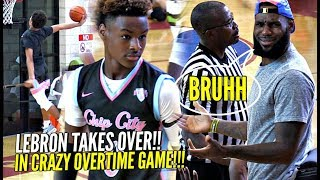 Download LeBron James TAKES OVER As Coach & Gets INTO it w/ REF!! Bronny & Blue Chips CRAZY OT GAME!! Video