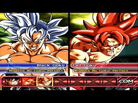 Team Black Goku Mastered Ultra Instict VS Team Evil Goku Mastered Ultra Instinct | DBZ BT3