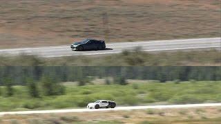 Download 1200hp Bugatti Veyron (246mph) vs. 1700hp Nissan GTR (237mph) Video