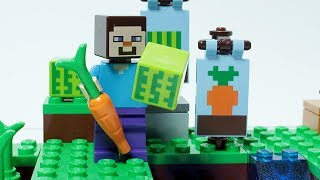 Download Lego Minecraft Steve Brick Building Small Farm Video