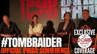 Download Alicia Vikander, Walter Goggins, Roar Uthaug, Graham King talk about ″Tomb Raider″ #PressConference Video