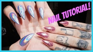 Download CHROME & HOLOGRAPHIC NAILS: Step by Step Tutorial | Jeffree Star Video