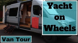 Download VanLife Tour: Seriously a Land Yacht, 1000w Solar, Radiant Heat, Recirculating Hot Water Video