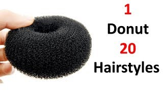 Download 20 hairstyles in 1 donut || easy hairstyles || quick hairstyles || cool hairstyles || hairstyles Video