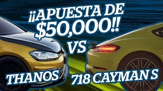 Download ¡¡APUESTA DE $50,000!! GOLF R THANOS vs PORSCHE 718 CAYMAN S Video