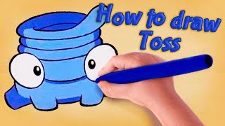 Download Om Nom Stories - How to draw Om Nom -Toss - Cut The Rope - Kedoo ToonsTV Video