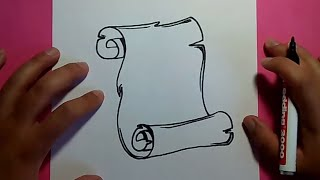 Download Como dibujar un pergamino paso a paso 3 | How to draw a scroll 3 Video