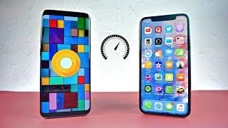 Download Samsung Galaxy S8 Android 8.0 Oreo vs iPhone X - Speed Test! (4K) Video