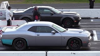 Download The difference between Demon and Hellcat - 1/4 mile drag race Video
