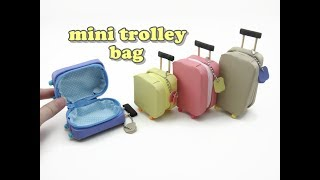 Download DIY Doll Accessories Mini Trolley Bag with Zipper Video