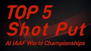 Download Top 5 Shot Put Thrower at IAAF World Championships Video