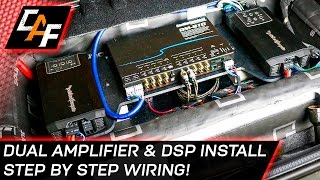 Download Car Audio Wiring - Dual Amplifier and DSP Install Video