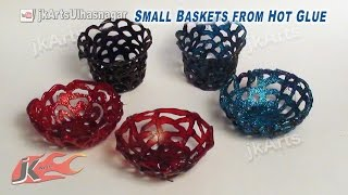 Download DIY Mini Baskets from Hot Glue | How to make | JK Arts 584 Video