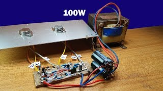 Download How to make 100W amplifier circuit using two transistors 2N3055 Video