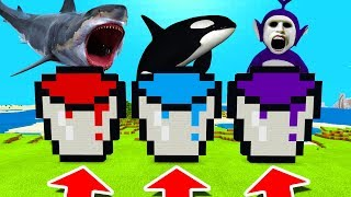 Download Minecraft PE : DO NOT CHOOSE THE WRONG BUCKET! (Shark, Orca & Tinky Winky Slendytubbies) Video