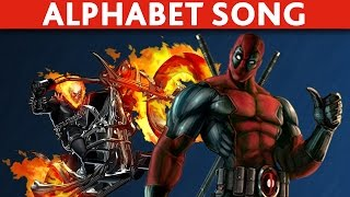 Download Marvel Daredevil Inhumans Deadpool Cartoon ABC Song Learn the ABC Song Video