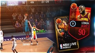 Download 90 Overall Harvest Lebron James Gameplay + Cornucopia Pack Opening! NBA Live Mobile Video