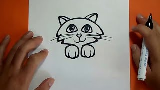 Download Como dibujar un gato paso a paso 18 | How to draw a cat 18 Video