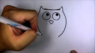 Download วาดการ์ตูน กันเถอะ สอนวาด การ์ตูน นกฮูก Video
