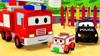 Download The Car Patrol: Fire Truck and Police Car and baby Amber disappearance in Car City | Cars & Trucks Video