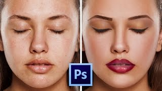 Download Photoshop CC Tutorial: How to retouching Skin & make makeup Easily Video