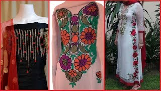 Download Latest Stylish unstitched embroidered suits designs | Hand Embroided Dresses / Salwar suits Video