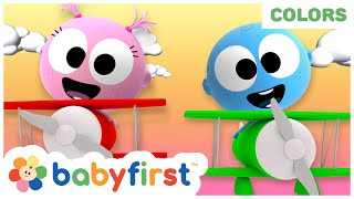 Download Learning Colors & Fruits With GooGoo & Gaga Baby | Flying on Coloring Airplanes for Kids | BabyFirst Video