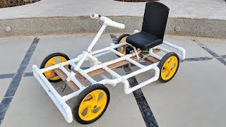 Download How to Make a Go kart / Electric car using PVC pipe at Home Video