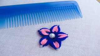 Download Easy sewing hack with hair comb# Hand embroidery amazing trick Video
