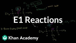 Download E1 reactions | Substitution and elimination reactions | Organic chemistry | Khan Academy Video