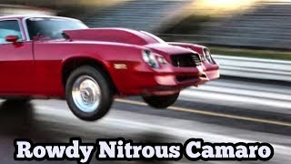 Download Rowdy Nitrous Camaro at edinburg motorsports park Texas Video