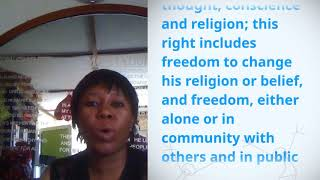 Download Asabe Shehu Yar'Adua Foundation, Nigeria, reading article 18 of the Universal Declaration of Human R Video