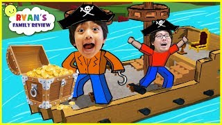 Download Let's Play Roblox with Ryan's Family Review! Build a Boat For Treasure Video