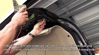 Download HOW TO INSTALL CAR BACKUP CAMERA | WIRE REAR VIEW CAM TO TAIL LIGHT Video