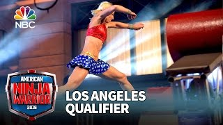 Download Jessie Graff at the Los Angeles Qualifier - American Ninja Warrior 2016 Video
