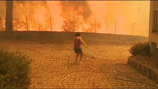 Download Heatwave fuels forest fires in Portugal - no comment Video