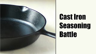 Download Seasoning Cast Iron (Flaxseed vs. Old School methods) Video
