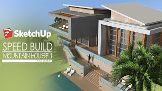 Download Sketchup - Speed Build - Modern Mountain House 1 Video